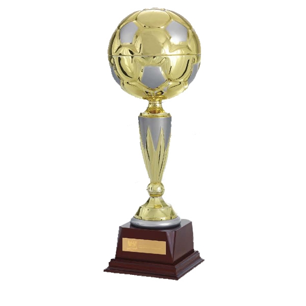 "Top Score Jaffa (r) Collection - 13"" Gold Metal Soccer Ball Trophy Photo"
