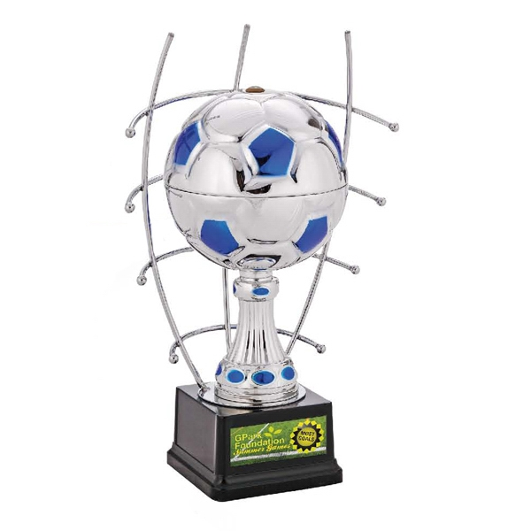 "Goal Master Jaffa (r) Collection - 15"" Silver Soccer Ball Trophy Photo"