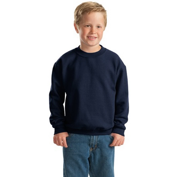 Gildan (r) Heavy Blend (tm) - Colors - Youth Size Cotton/polyester Fleece Sweat Shirt With Double Needle Stitching Photo