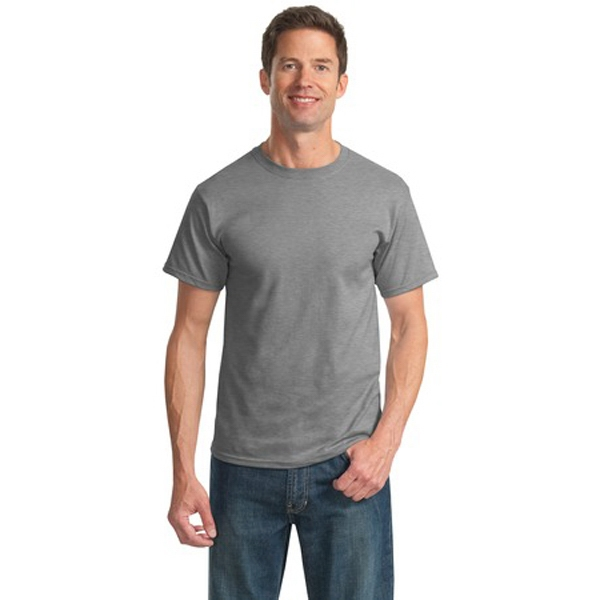 Jerzees (r) - 4 X L Whites - Cotton 5.6 Oz Adult T-shirt, Double-needle Sleeves And Hem Photo