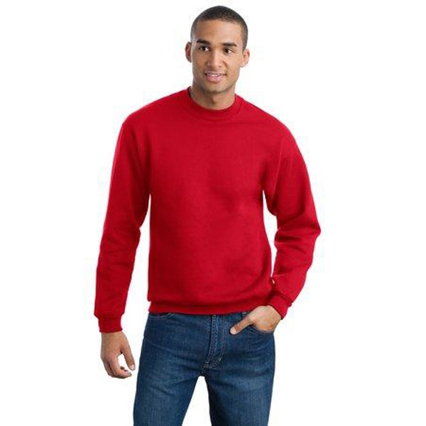 Jerzees (r) Super Sweats(r) - 3 X L Heathers - Crew Neck 9.5 Oz. Polyester/cotton Fleece Sweat Shirt With Set-in Sleeves Photo