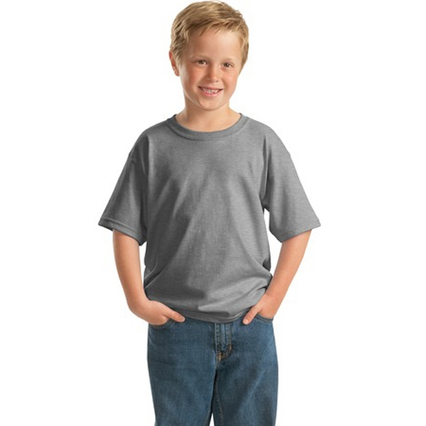 Gildan (r) - Neutrals - Youth Size 5.3 Oz. Cotton T-shirt With Seamless Double-needle Collar Photo