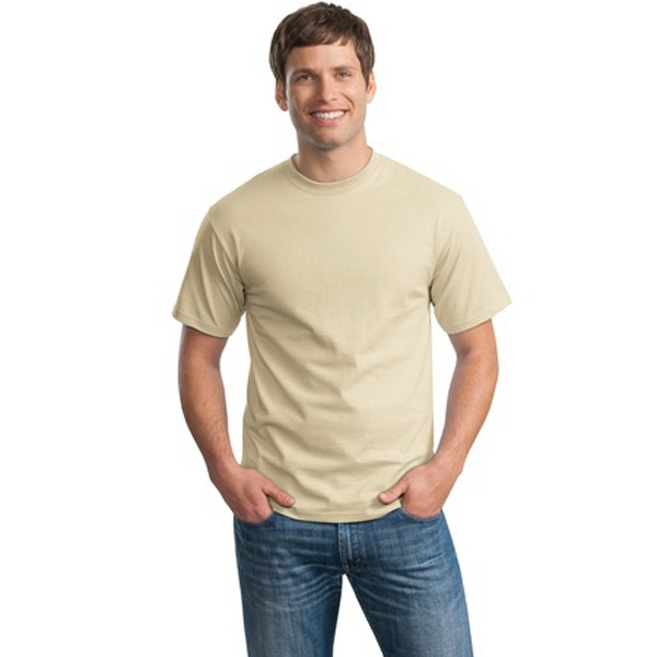Hanes (r) Tagless (r) - S -  X L Neutrals - 6-ounce, 100% Comfortsoft (r) Cotton (preshrunk) T-shirt Photo