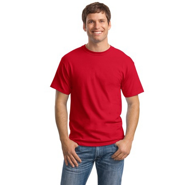 Hanes (r) Comfortsoft (r) - 4 X L White - Heavyweight 5.2 Oz. 100% Cotton T-shirt With Double-needle Sleeve And Hem Photo