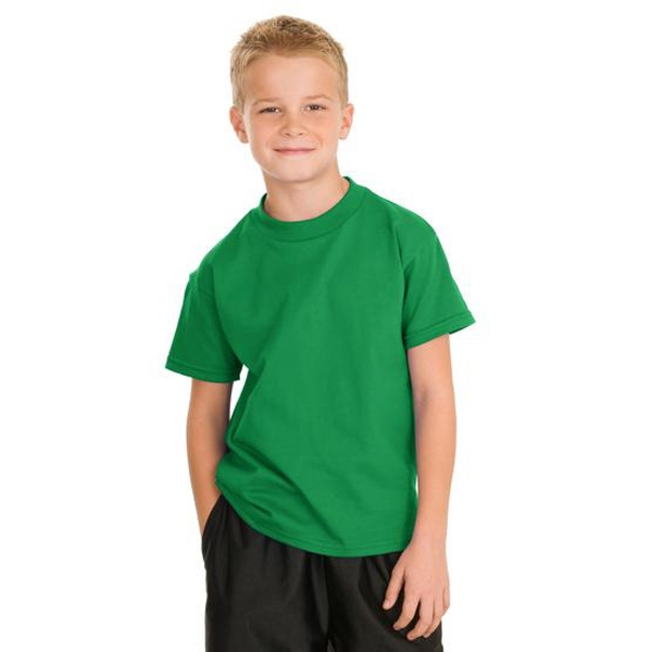 Hanes (r) Tagless (r) - Heathers - Youth Tagless 100% Cotton T-shirt Photo