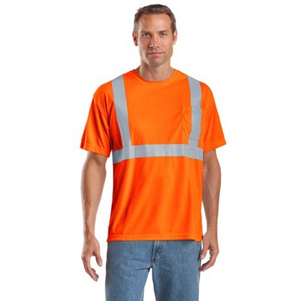 Cornerstone (r) By Port Authority (r) -  X S -  X L All Colors - Reflective Safety T-shirt With Pocket, Ansi Class 2 Photo