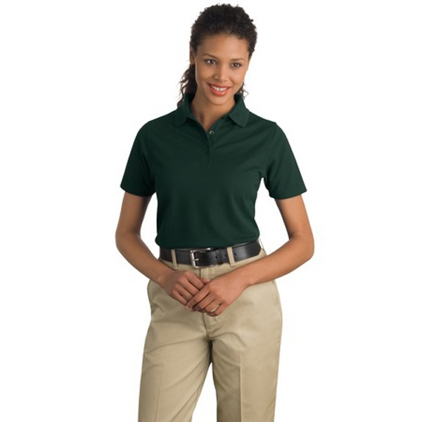 Cornerstone (r) Port Authority (r) - 4 X L Colors - Ladies' Industrial Pocketless Pique Polo Shirt, 6.8 Oz. 100% Spun Polyester Photo