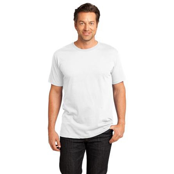 District Made (tm) - 3 X L White - Men's Short Sleeve Rib Knit Crew Neck T-shirt Photo