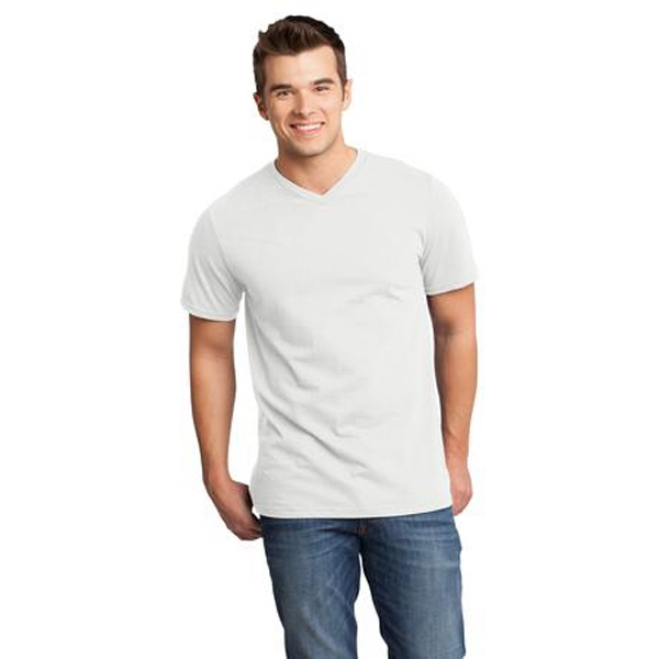 District (r) Very Important Tee (tm) - 2 X L White - Young Men's 4.3 Oz. 100% Ring Spun Combed Cotton T-shirt Photo