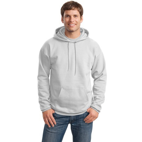Hanes (r) Ultimate Cotton (r) - S -  X L White - Pullover 10 Oz. Polyester/cotton Sweat Shirt With Two Ply Hood Photo