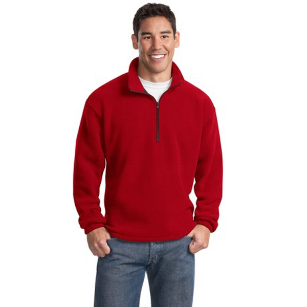 Port Authority (r) R-tek(r) - 4 X L Colors - Polyester R-tek (r) Fleece 1/4 Zip Pullover Jacket, Twill Trimmed Neck Photo