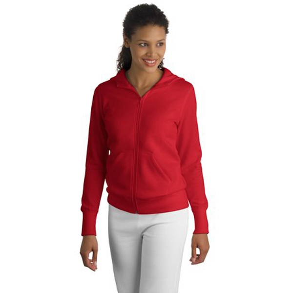 Sport-tek (r) - 4 X L Colors - Ladies' Full-zip Hooded Fleece Jacket Photo
