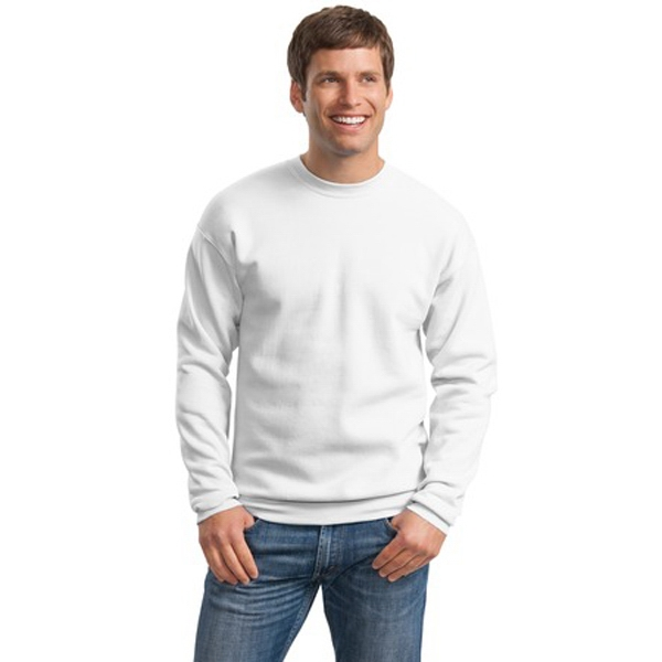 Hanes (r) Comfort Blend (r) Ecosmart (r) - 2 X L White - Tag Free Crewneck Sweat Shirt, 7.8-ounce, 50/50 Cotton/poly Photo