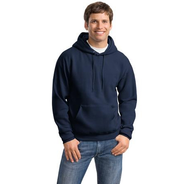 Hanes (r) Comfort Blend (r) - S -  X L White - Adult Color Pullover Hooded Sweatshirt, 7.8 Oz. 50% Cotton And 50% Polyester Photo