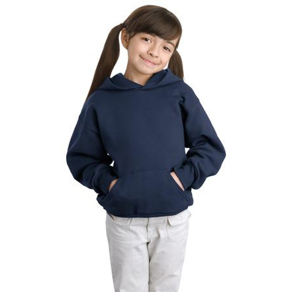 Hanes (r) Comfort Blend (r) Ecosmart (r) - Colors - Youth 7.8 Oz. Pullover Hooded Sweat Shirt With Set In Sleeves Photo