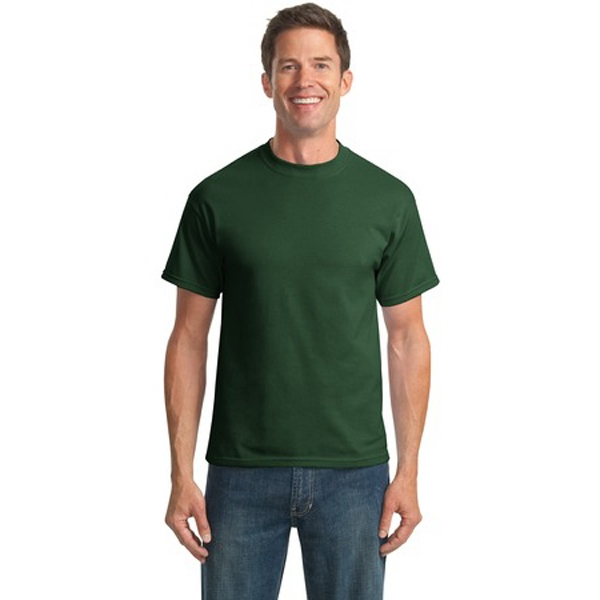 Port & Company (r) - S -  X L Darks - Polyester/cotton T-shirt With Double Needle Hem Photo
