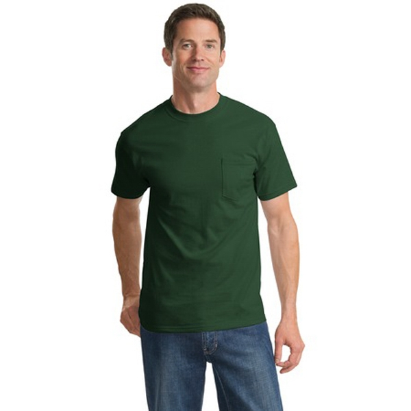 Port & Company (r) Essential - S -  X L Neutrals - 100% Cotton 6.1 Oz. Coverseamed Neck T-shirt With Pocket Photo