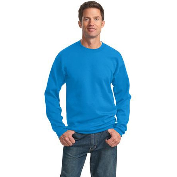 Port & Company (r) - 4 X L White - Classic Crewneck Sweatshirt. Crafted For Comfort Photo