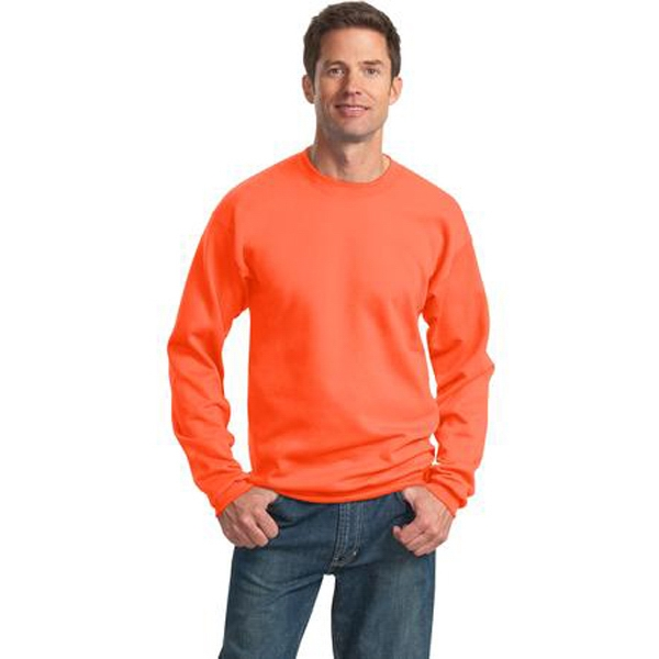 Port & Company (r) - S -  X L Heathers - Polyester/cotton 9 Oz. Crew Neck Sweat Shirt With Set-in Sleeves Photo