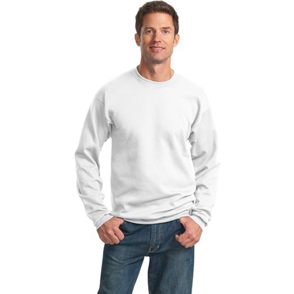 Port & Company (r) - 4 X L White - Polyester/cotton 9 Oz. Crew Neck Sweat Shirt With Set-in Sleeves Photo