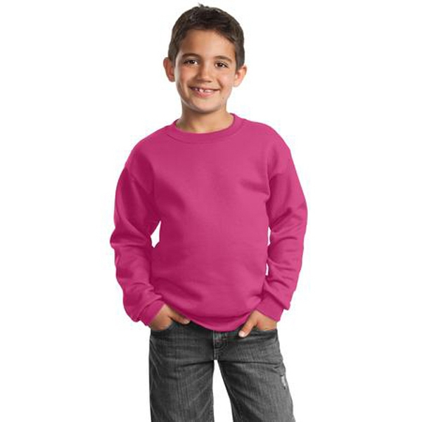 Port & Company (r) - White - Youth Sweatshirt, Perfect For The Gym Or Relaxing. 7.8 Oz. Cotton/poly Fleece Photo