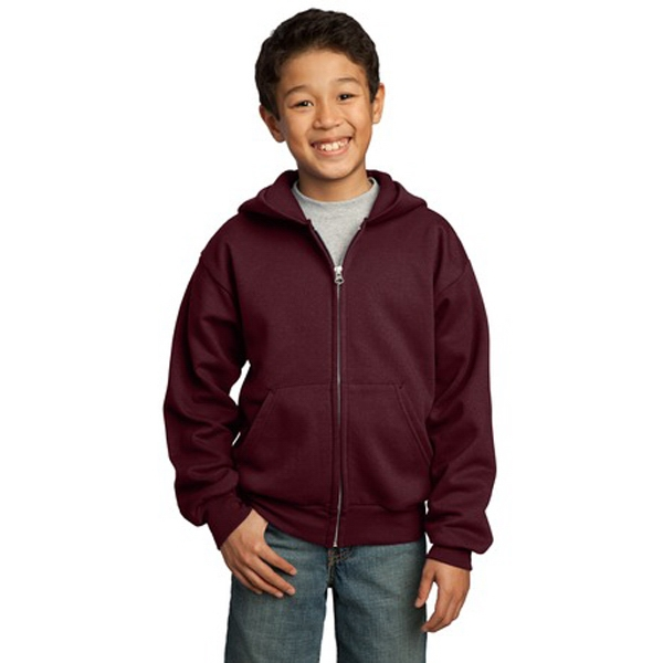 Port & Company (r) -  X S -  X L Heathers - Youth Full Zip Hooded Sweat Shirt Photo