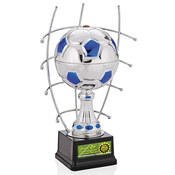 "Goal Master Jaffa (r) Collection - 12"" Silver Soccer Ball Trophy Photo"