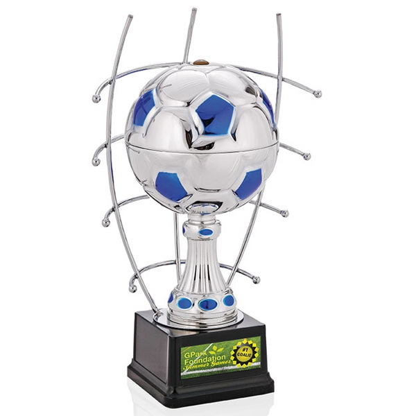 "Goal Master Jaffa (r) Collection - 13"" Silver Soccer Ball Trophy Photo"