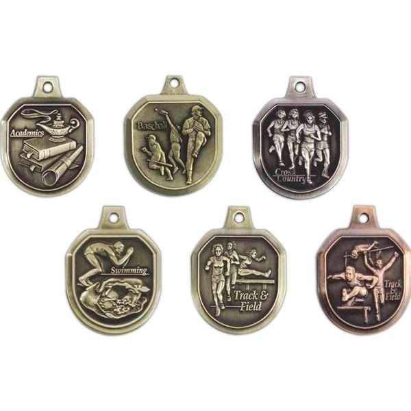 """1.5"""" Die Cast Medal"""