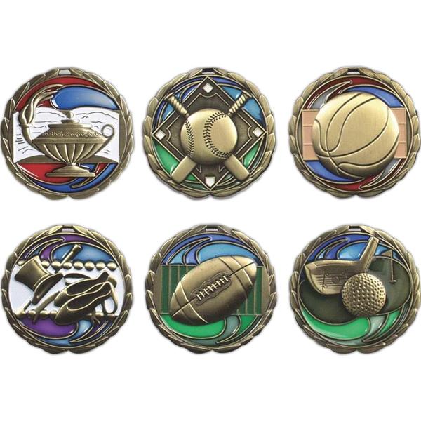 """2.5"""" Die Cast Suncatcher Medal"""