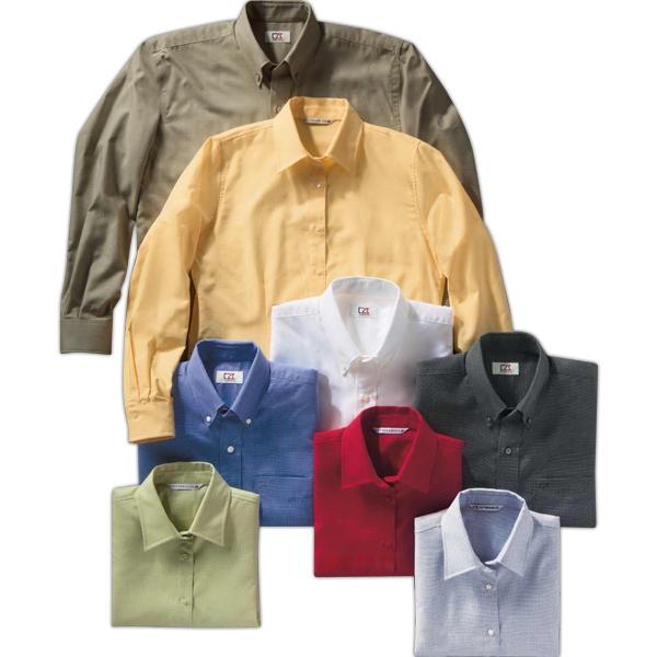 Men's Long Sleeve Nailshead Woven Shirt