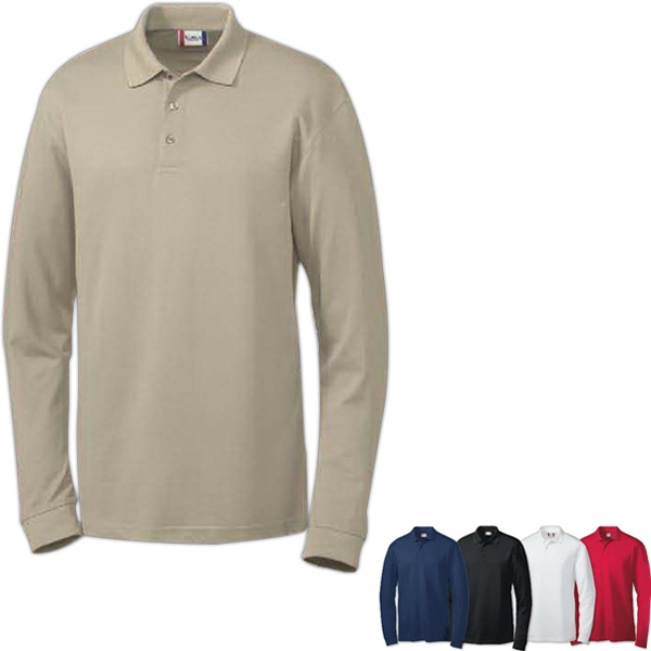 Long Sleeve Evans Easy Care Polo