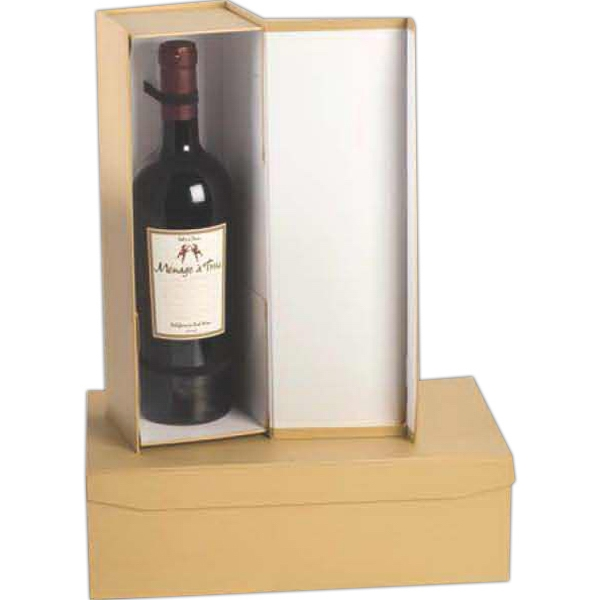 Regency Pop Up Wine Bottle Gift Box With Ribbon Bow Everything
