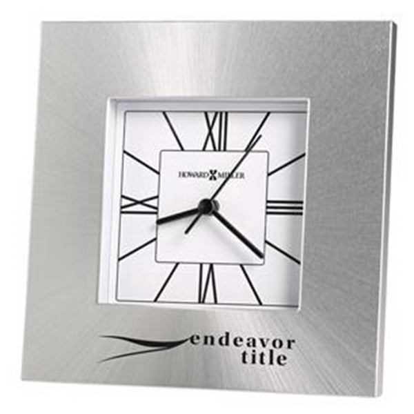 Kendal - Square Aluminum Tabletop Clock Photo