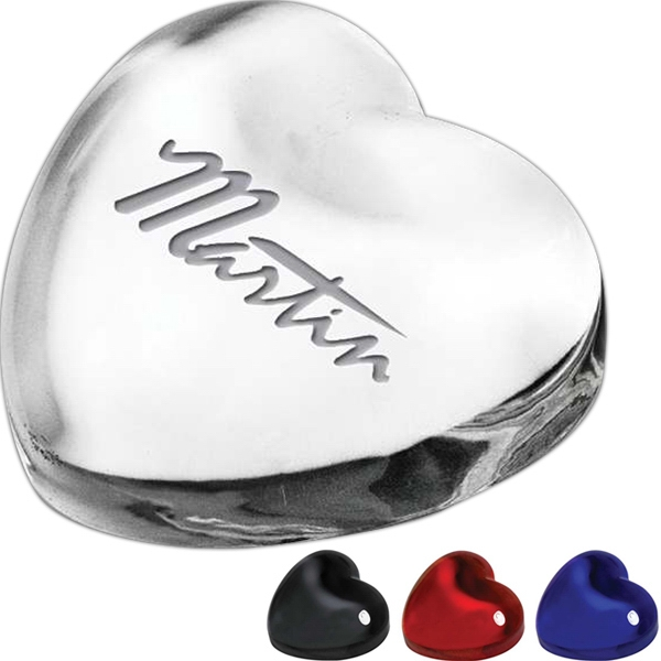 Colors - Crystal Heart Paperweight Photo