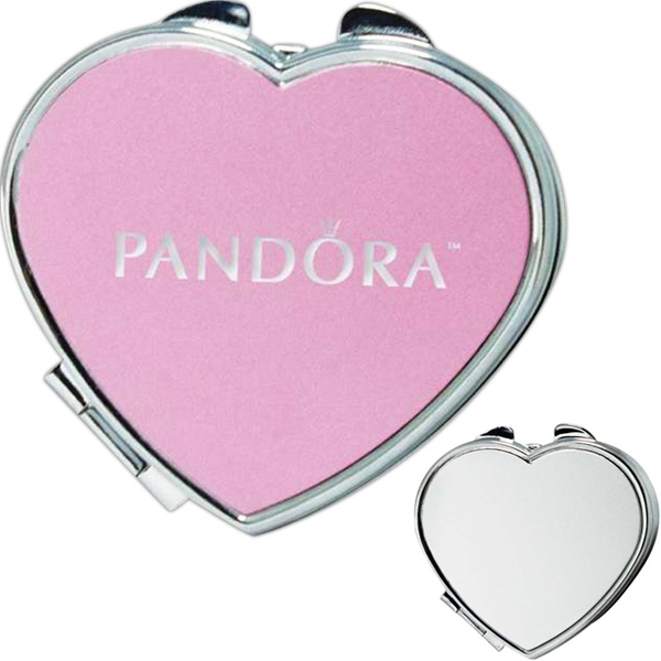 Heart Shaped Metal Pill Box With Mirror Photo