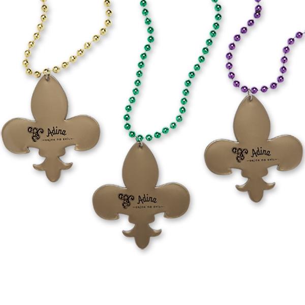 Fleur-De-Lis Medallion Beads