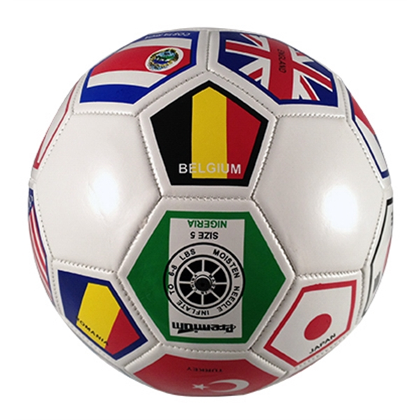"Regulation Size Soccer Ball, 8"" Round (inflated). Official Size Photo"