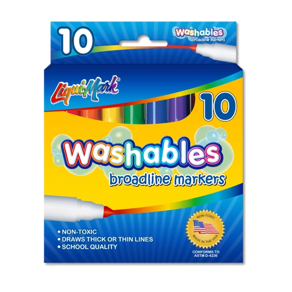 10 Pack Washable Markers