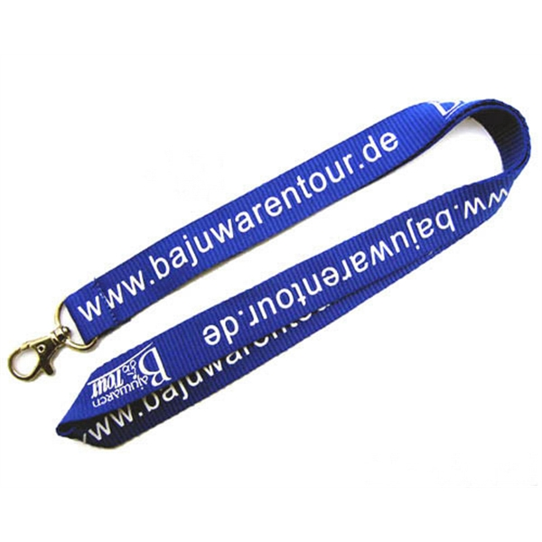 "Navy Blue 1/2"" Polyester Lanyards"