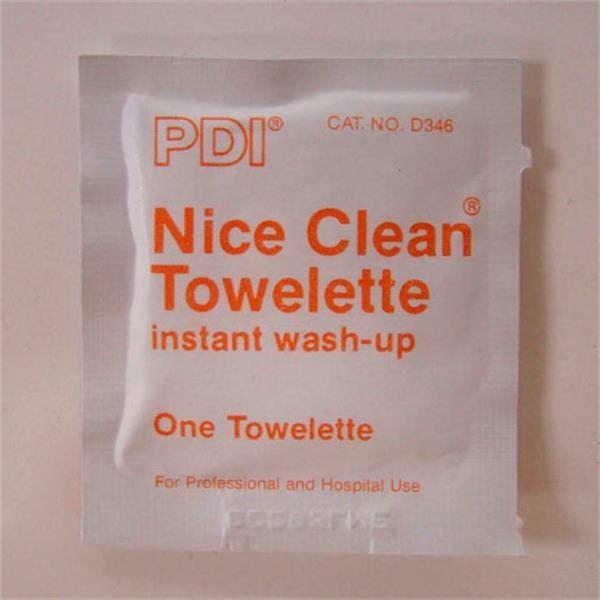 Cleaning Towelette. Blank Photo