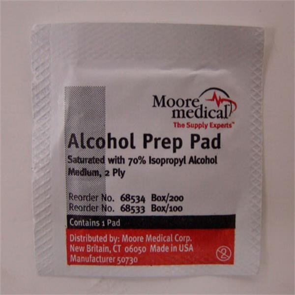 Alcohol Wipes. Blank Photo
