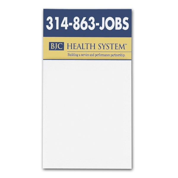 "Add-a-pad - Business Card Magnet With Blank 4 1/4"" X 3 1/2"" Memo Pad Photo"