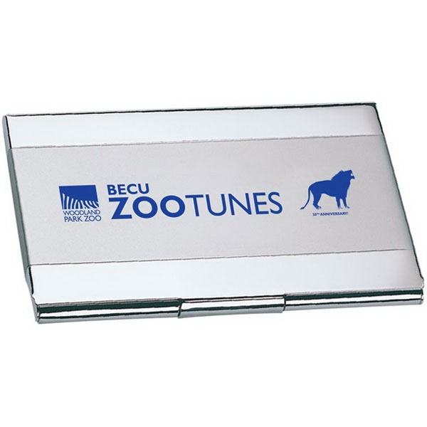 Two Tone Business Card Holder With Snap Closure Photo