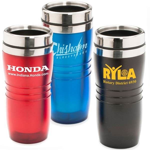 Wavy - 16 Oz. Stainless Steel Tumbler With Stainless Steel Liner And Acrylic Outer Shell Photo