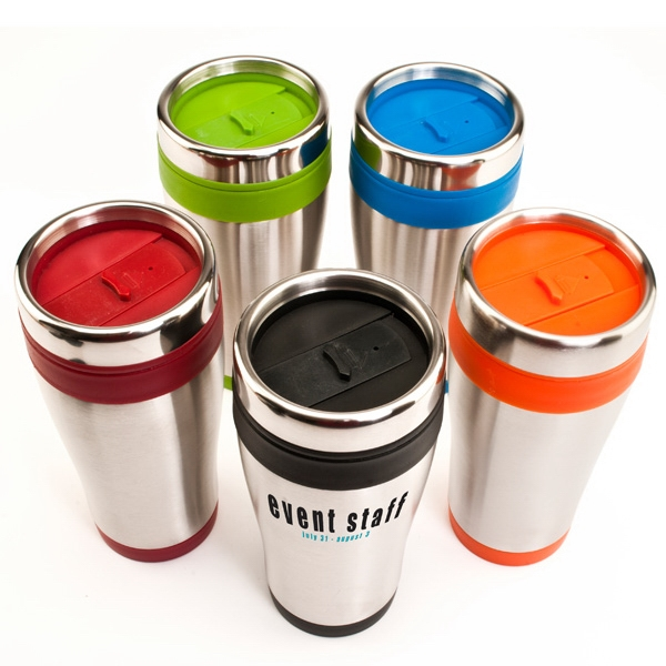 Brite-rite - 16 Oz Double Wall Travel Tumbler With Stainless Steel Outer Shell Photo