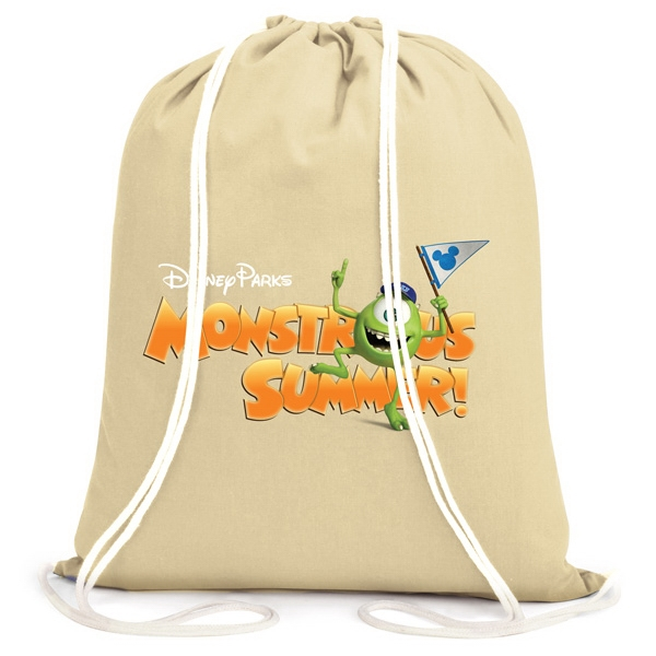 Promotional Drawstring Backpack Made Of 6 Oz. Cotton Canvas Photo