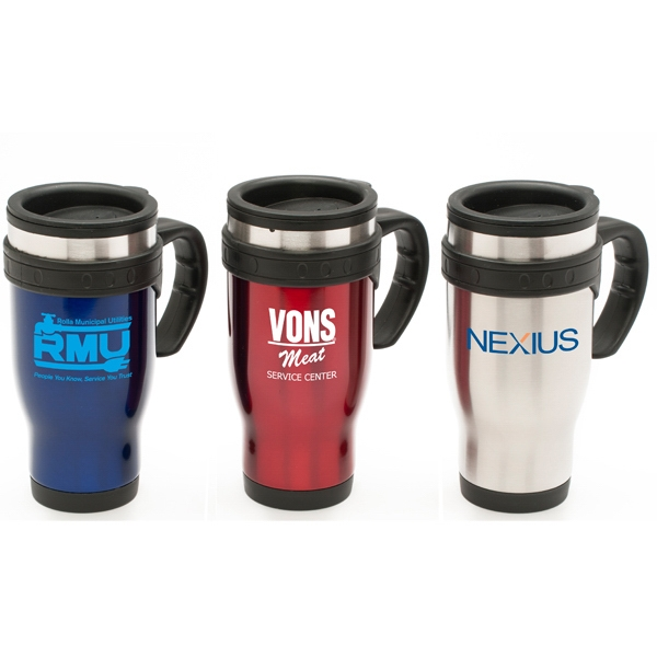 Commuter - Blue - 16 Oz. Commuter Mug With Stainless Steel Outer Shell And Plastic Inner Liner Photo