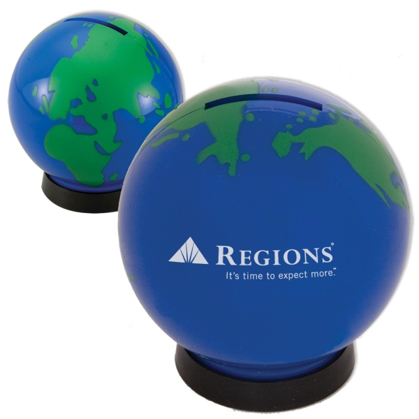 Plastic Globe Shaped Bank Photo