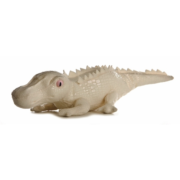 "8"" Albino Stuffed Crocodile"
